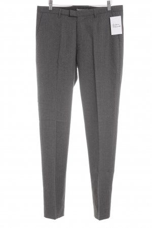 DRYKORN FOR BEAUTIFUL PEOPLE Woolen Trousers anthracite-grey graphic pattern