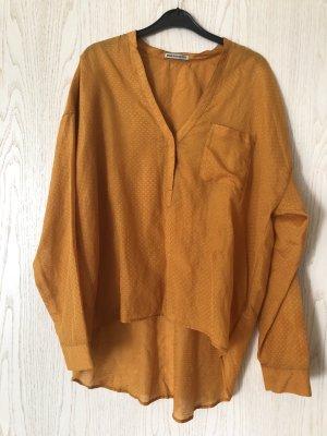 DRYKORN goldgelbe Bluse mit Seidenanteil