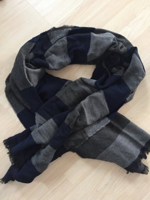 Drykorn Wollen sjaal zilver-blauw
