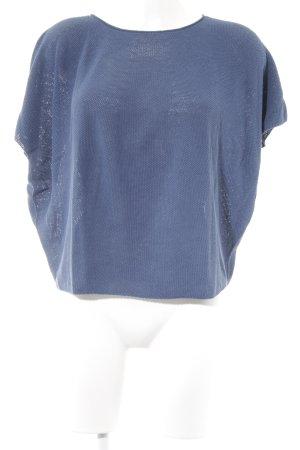 Drykorn Gehaakt shirt staalblauw casual uitstraling