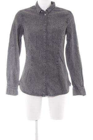 Drykorn Hemd-Bluse grau meliert Casual-Look