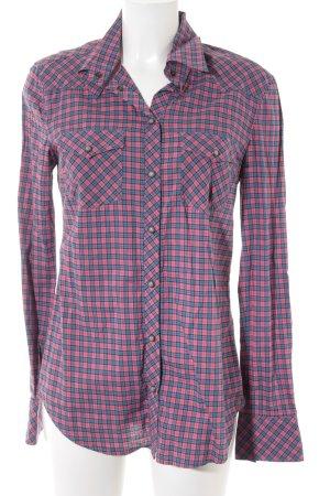 Drykorn Hemd-Bluse rosa-blau Karomuster Casual-Look