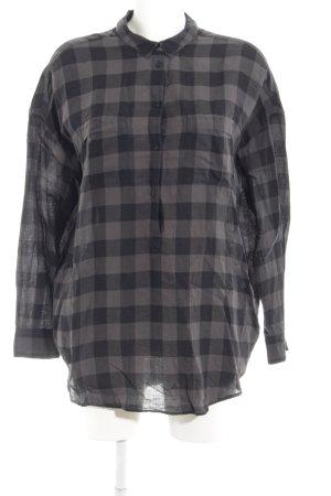 Drykorn Hemd-Bluse schwarz-grau Karomuster Casual-Look