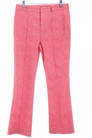 Drykorn High Waist Trousers red-white flecked casual look