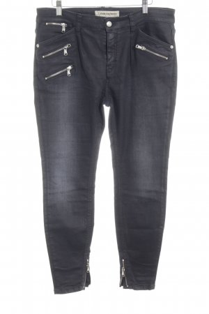 Drykorn Hoge taille jeans antraciet casual uitstraling
