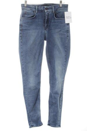 Drykorn Jeans a vita alta blu acciaio-blu stile casual