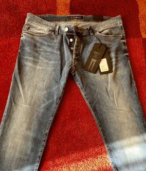 Drykorn Stretch broek blauw-donkerblauw