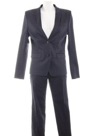Drykorn Tailleur-pantalon noir-gris clair imprimé allover style d'affaires