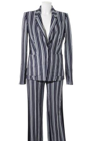 Drykorn Tailleur pantalone azzurro-blu scuro motivo a righe stile casual