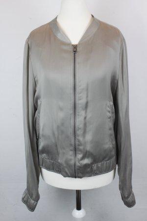 Drykorn Jacke Blouson Gr. 5 / L silver grey leicht glänzend (MF/R)