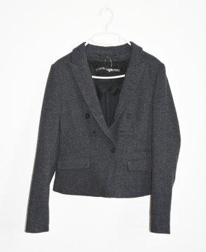 Drykorn Knitted Blazer dark grey wool