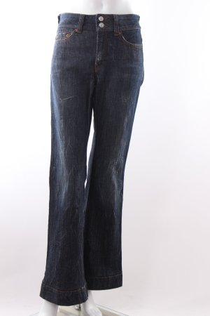 Drykorn Jeansschlaghose dunkelblau