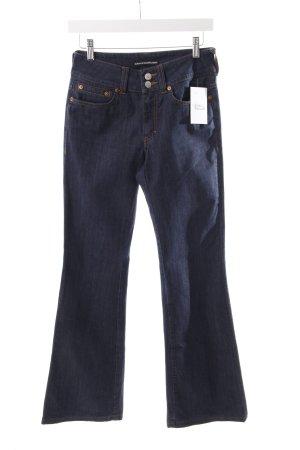 Drykorn Jeansschlaghose dunkelblau schlichter Stil