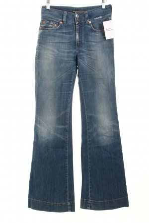 Drykorn Jeansschlaghose stahlblau Casual-Look