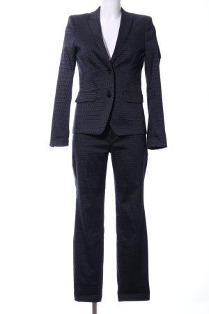 Drykorn Jersey Twin Set blau Allover-Druck Business-Look