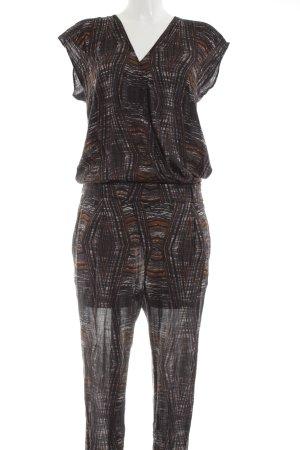 Drykorn Jumpsuit schwarz-hellorange Allover-Druck Elegant