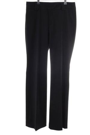 Drykorn Pantalón de pinza alto negro raya diplomática estilo «business»