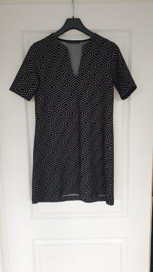 Drykorn Kleid Herbstkleid Schwarz Muster S