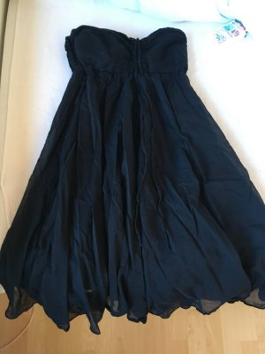 DRYKORN FOR BEAUTIFUL PEOPLE Vestido bandeau negro tejido mezclado
