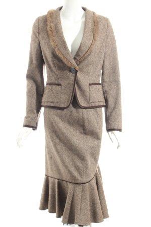 Drykorn Kostüm braun-beige meliert Country-Look