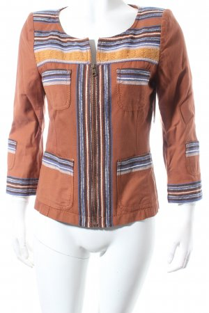 Drykorn Short Blazer light brown-apricot abstract pattern casual look