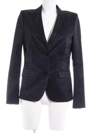 Drykorn Kurz-Blazer schwarz-dunkelblau grafisches Muster Business-Look