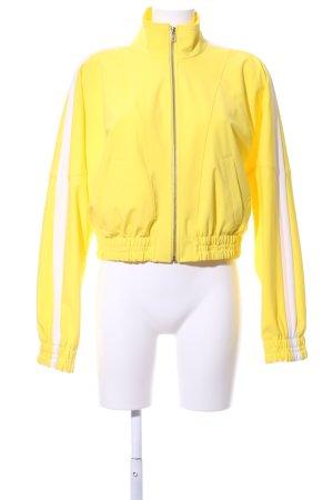 Drykorn Kurzjacke gelb-weiß Streifenmuster Casual-Look
