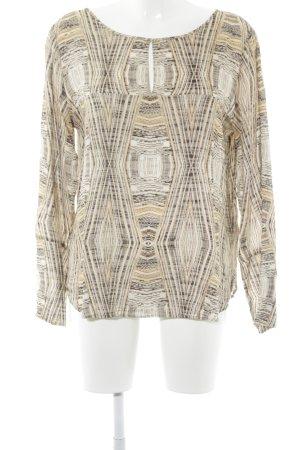 Drykorn Langarm-Bluse abstraktes Muster Business-Look