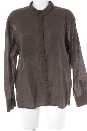 Drykorn Langarm-Bluse grüngrau Casual-Look