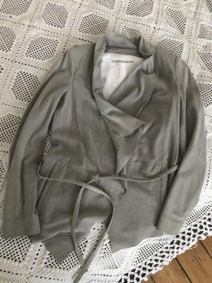 Drykorn Blazer de cuero color plata Cuero