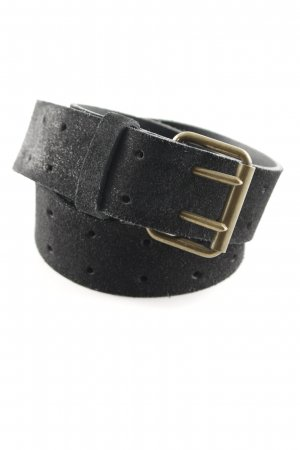 Drykorn Leather Belt black-gold-colored casual look
