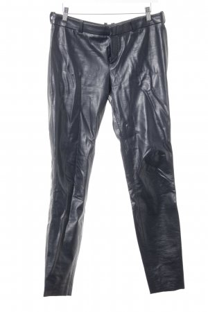 Drykorn Leather Trousers dark violet extravagant style