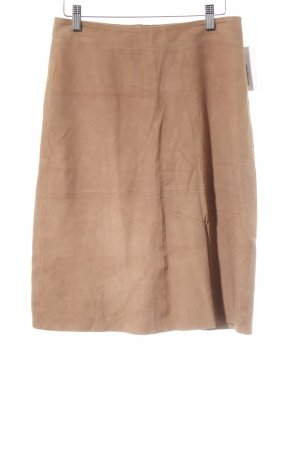 Drykorn Lederrock beige schlichter Stil
