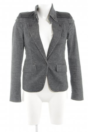 Drykorn Long-Blazer hellgrau-schwarz meliert Business-Look
