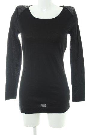 Drykorn Lang shirt zwart extravagante stijl