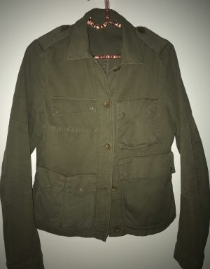Drykorn Pea Jacket green grey cotton