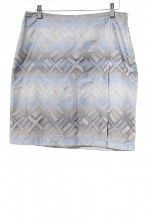 Drykorn Miniskirt silver-colored-blue abstract pattern casual look