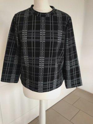Drykorn Oberteil Schwarz Weiß M Bluse Hoodie Tunika Shirt Kariert