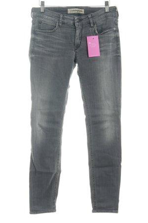 Drykorn Röhrenjeans grau Jeans-Optik