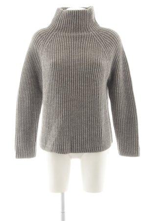 Drykorn Maglione dolcevita grigio-marrone-grigio puntinato stile casual