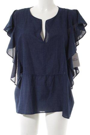Drykorn Rüschen-Bluse blau Casual-Look