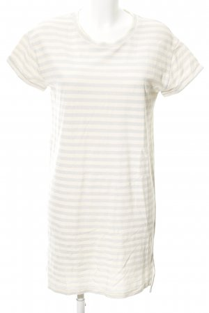 Drykorn Tube Dress natural white-silver-colored striped pattern casual look