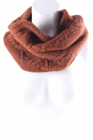 Drykorn Tube Scarf russet cable stitch Brit look