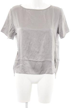 Drykorn Blouse en soie gris clair-argenté style décontracté
