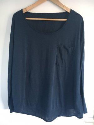 Drykorn Oversized blouse donkerblauw