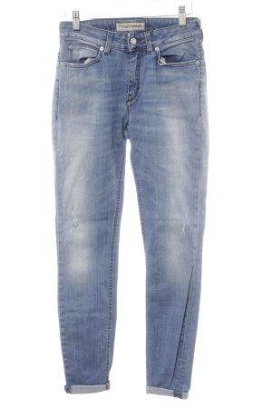 Drykorn Skinny Jeans blau-silberfarben Casual-Look