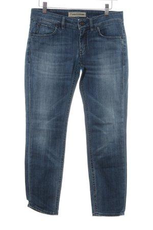 Drykorn Skinny Jeans blau-weiß Jeans-Optik