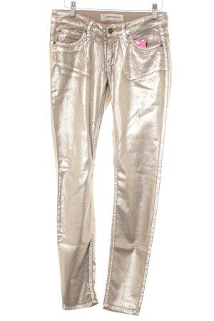 Drykorn Skinny Jeans goldfarben extravaganter Stil