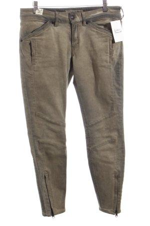 Drykorn Skinny Jeans grau Biker-Look