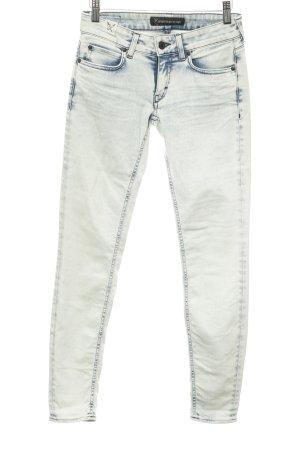 Drykorn Skinny jeans licht beige-donkerblauw tweedehandse uitstraling